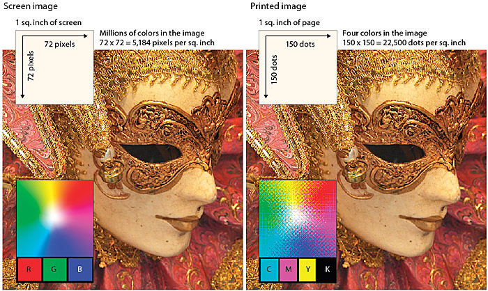 A Two Part Illustration That Compares The Same Photograph As An RGB Image On