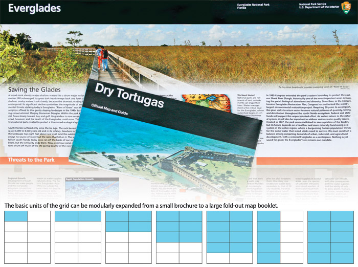 The Ilration Shows Two Examples Of The U S National Park Service Park Brochures From The